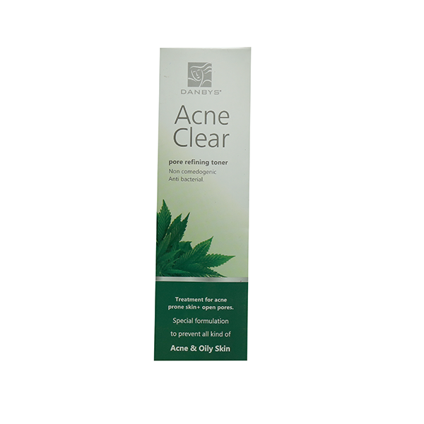 acne-clear toner packing